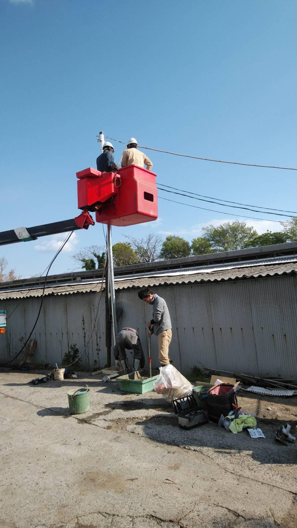 施工事例 高圧ケーブル入替工事と架空電線の移設工事