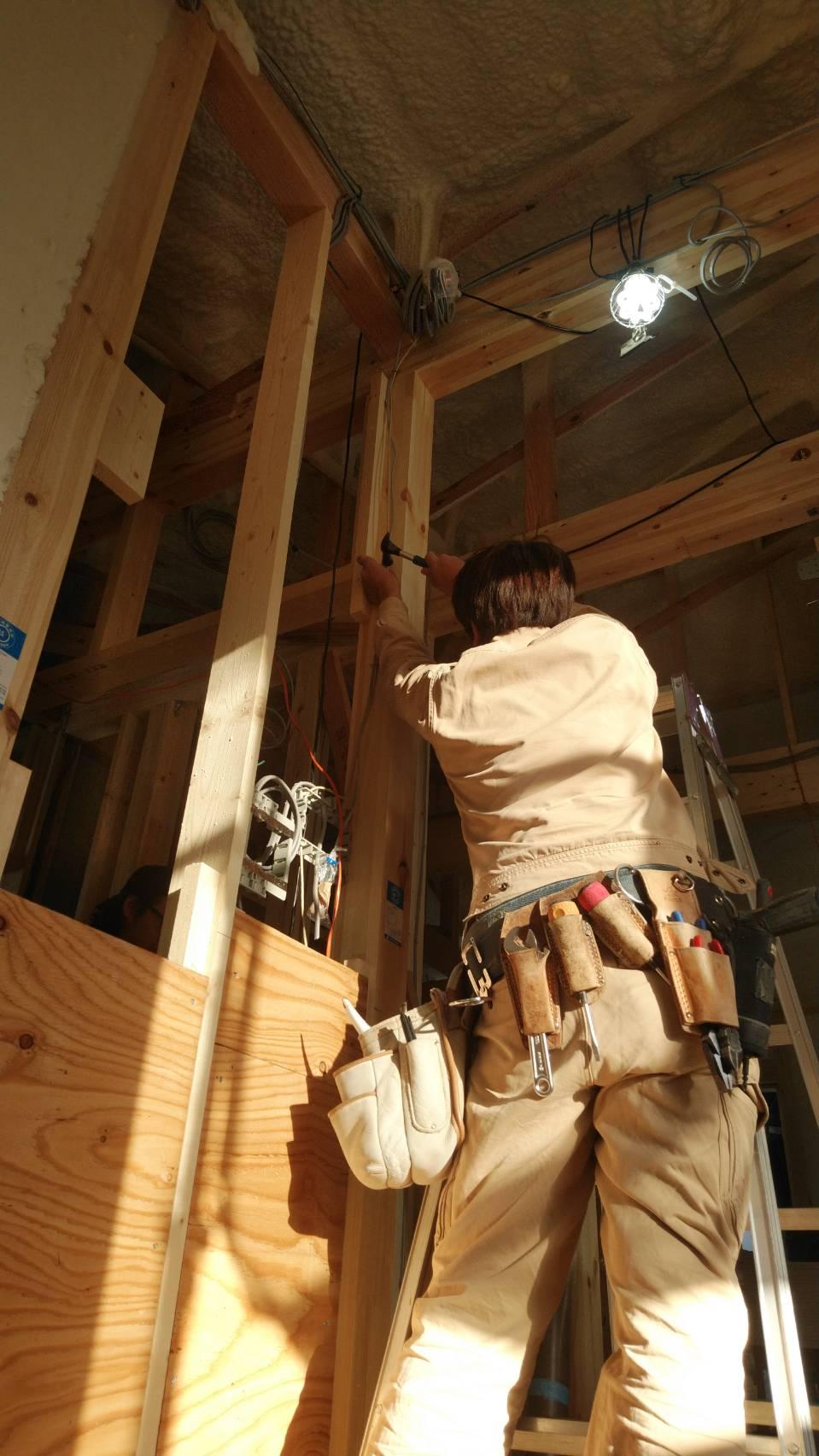 施工事例 住宅配線作業