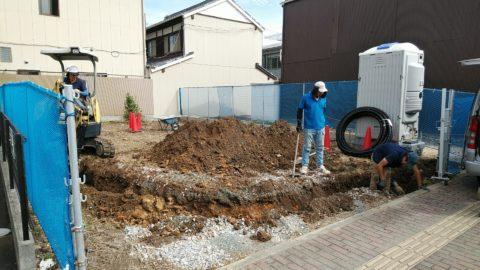 電気管埋設工事